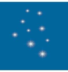 Set of glowing light effect stars bursts vector
