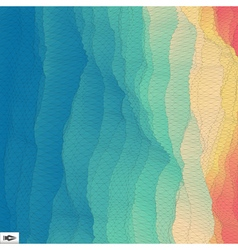 3d Perspective Grid Background Texture Mosaic vector image