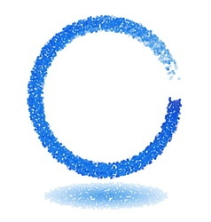 Blue dotted circle frame vector image vector image