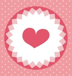 cute heart card vector image