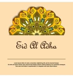 Eid Mubarak greeting card with mandala vector image