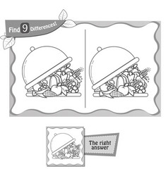 find 9 differences game tray vector image vector image