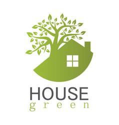 house green logo vector image