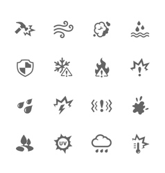 Simple influence icons vector