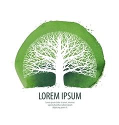 Tree logo nature ecology icon environment vector