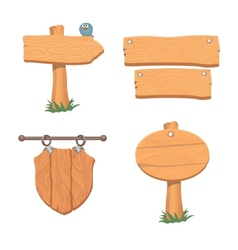 Wooden pointers and signs vector image vector image