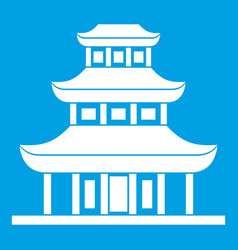 buddhist temple icon white vector image vector image