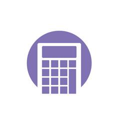 calculator school ico vector image vector image