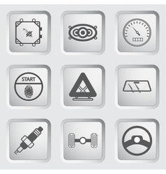 Car part and service icons set 7 vector