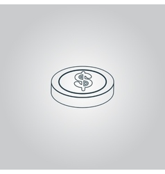 casino chip isolated vector image