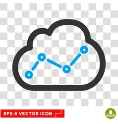 Cloud stats eps icon vector