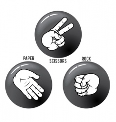 hand games vector image vector image