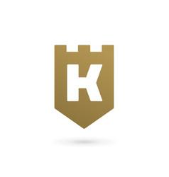 letter k shield logo icon design template elements vector image vector image