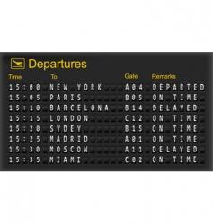 mechanical departures board vector image vector image