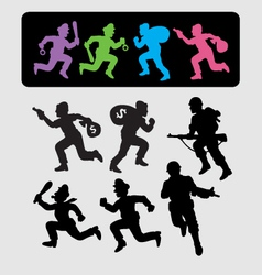 Running Silhouettes 2 vector image vector image
