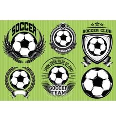 Set of Soccer Football Badge Logo Design Templates vector image vector image