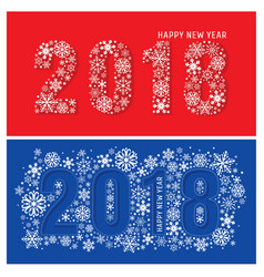2018 new year banners with snowflakes vector image