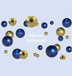 3d spheres background with organic spheres vector image