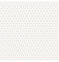abstract floral seamless pattern white stars vector image