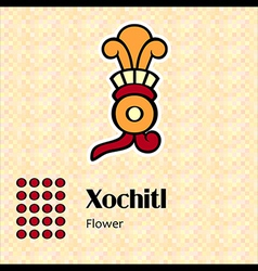 Aztec symbol xochitl vector