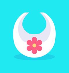 Bib with image flower vector