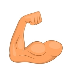 Biceps hands icon cartoon style vector image