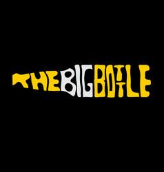 big bottle beer lettering design template vector image