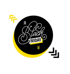 black friday sale hand-written and type design vector image
