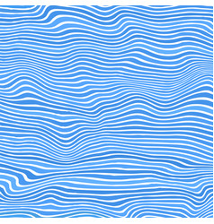 blue striped pattern wavy ribbons curvy lines vector image