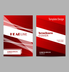 brochure template layout design abstract red and vector image