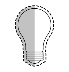 Bulb light icon vector