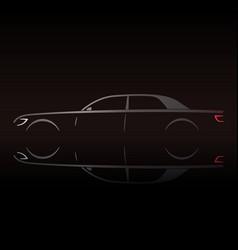 Business luxury prestige car vector