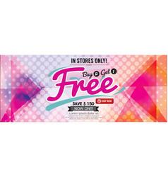 Buy 2 get 1 free 6249x2502 pixel banner vector