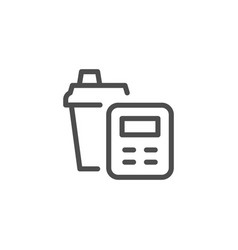 Calorie counting line icon vector