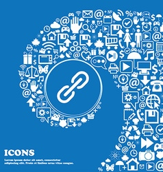 Chain Icon sign Nice set of beautiful icons vector