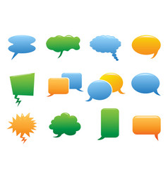 color speech bubble icons vector image vector image