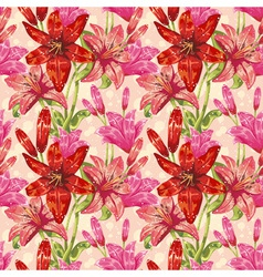 Colorful stylish spring floral seamless pattern vector image