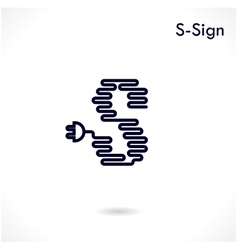 Creative S letter icon abstract logo design vector image