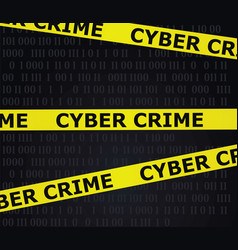 cyber crime tape vector image