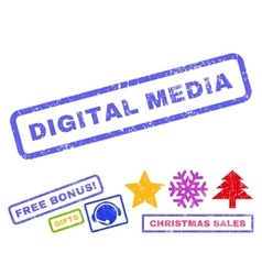 Digital Media Rubber Stamp vector