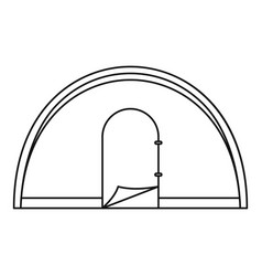 dome camping tent icon outline style vector image