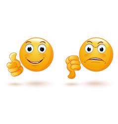 Emoticons set demonstrating opposing emotions vector