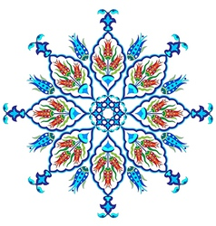Flowers in the ottoman art one vector
