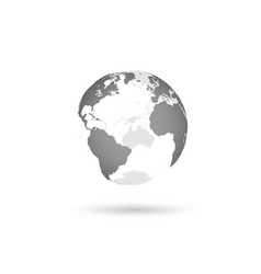 grey transparent earth globe vector image