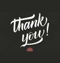 Hand drawn lettering thank you elegant vector
