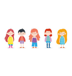 happy children day group kids boys and girls on vector image