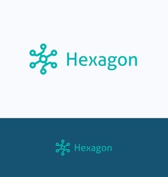 Hexagon group logo vector