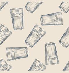 Highball glass seamless pattern collin glass vector