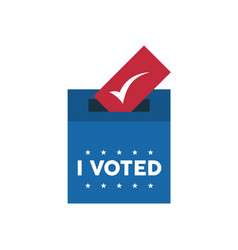 I voted lettering with voting box vector