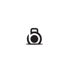 Letter b for fitness logo design template vector